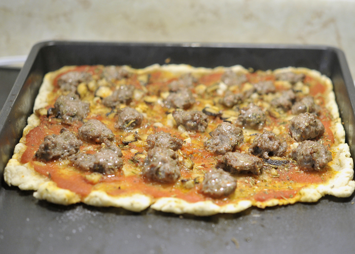 Corn Free Lamb Pizza