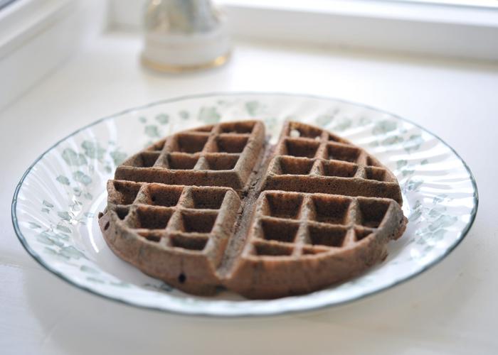Corn free chocolate chocolate chip waffle