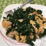 Quick, Easy, Healthy, Delicious Dinner: Cheesy Kale & Rice Recipe