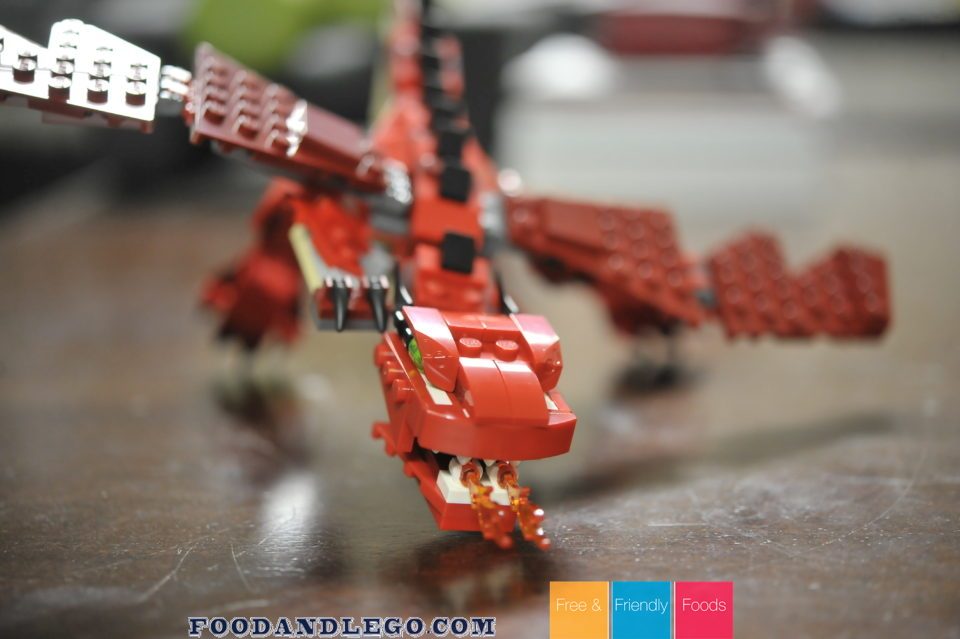 Free and Friendly Foods LEGO Review Red Creatures