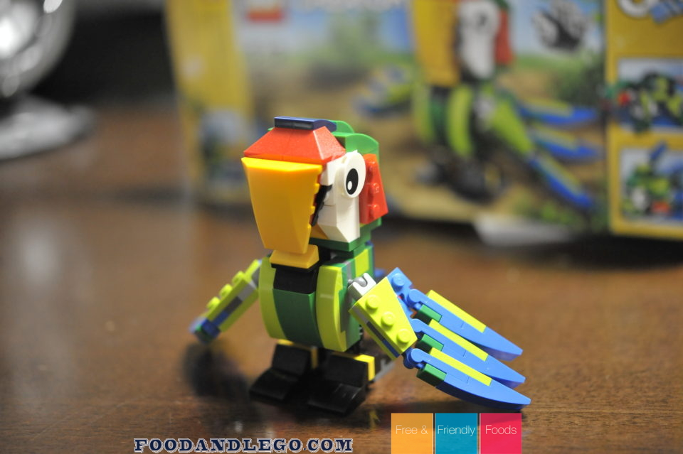 Free and Friendly Foods LEGO Review Rain Forest Animals