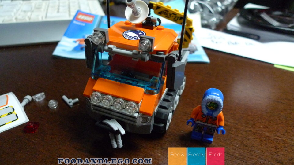 Free and Friendly Foods LEGO Review Arctic Ice Crawler
