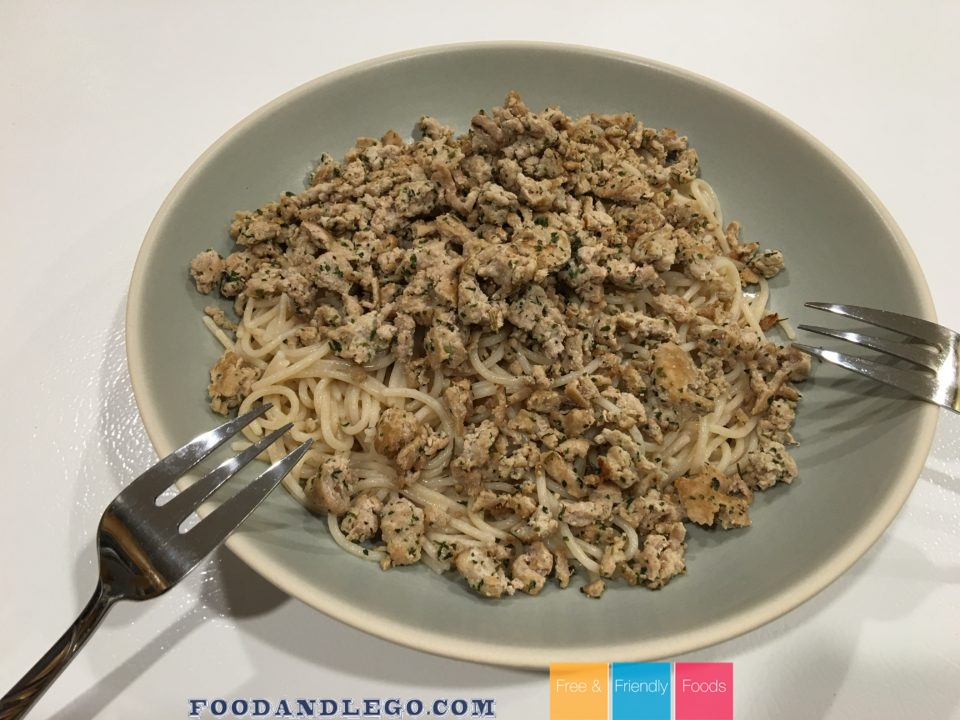 Free and Friendly Foods Weekly Challenge Creamy Turkey Noodles