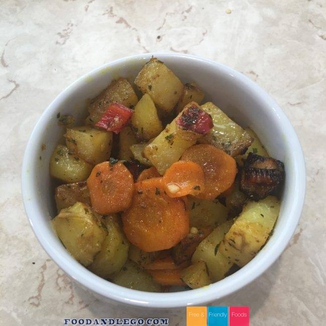 Free and Friendly Foods Indian Inspired Spiced Vegetables