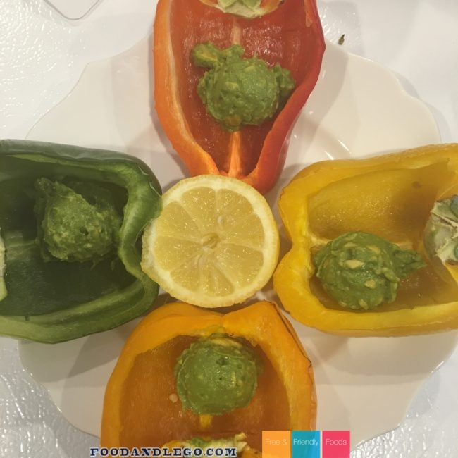 Free and Friendly Foods Taco Inspired Stuffed Peppers