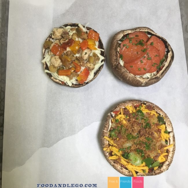 Free and Friendly Foods Mushroom Pizzas