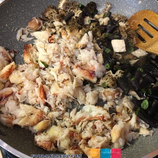 Free and Friendly Foods Crab Dish