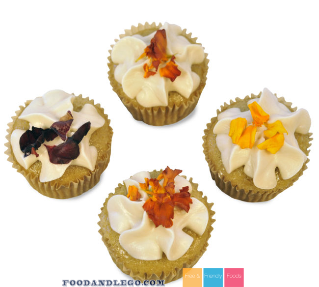 Free and Friendly Foods Regal Rose Cupcakes