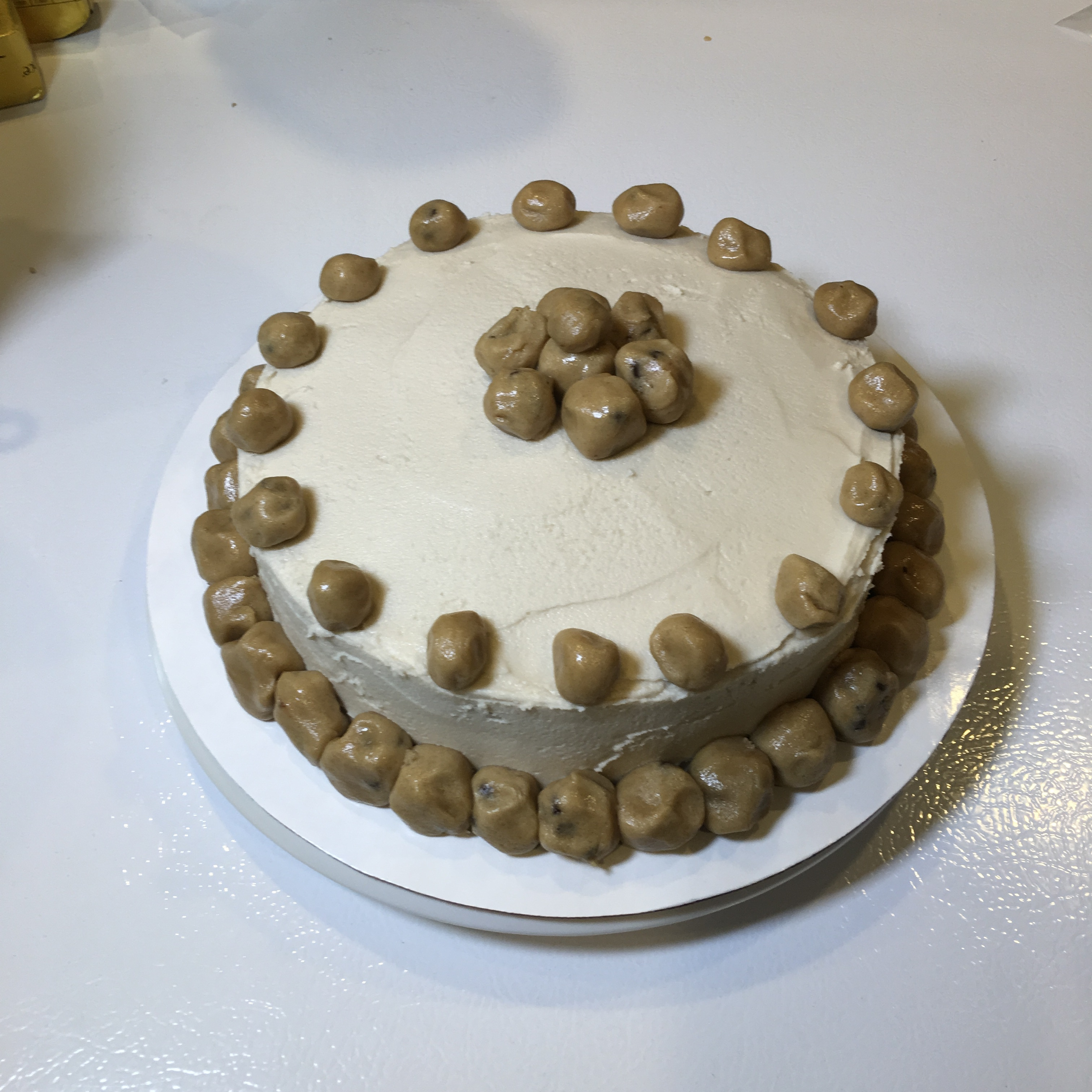 Free and Friendly Foods Cookie Dough Cake