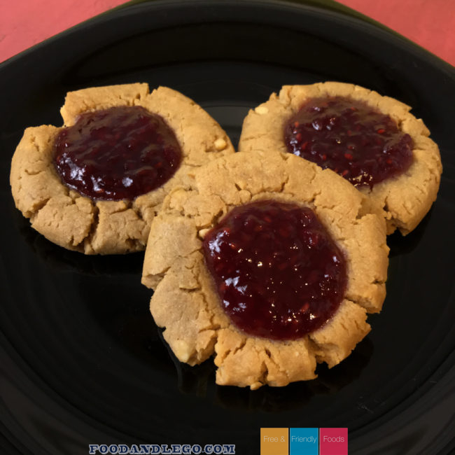 Free and Friendly Foods Peanut Butter and Jelly Cookies