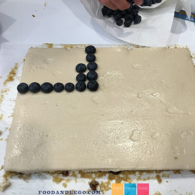 Free and Friendly Foods Flag Cake