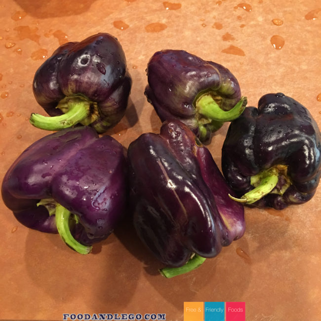 Free and Friendly Foods Stuffed Purple Peppers