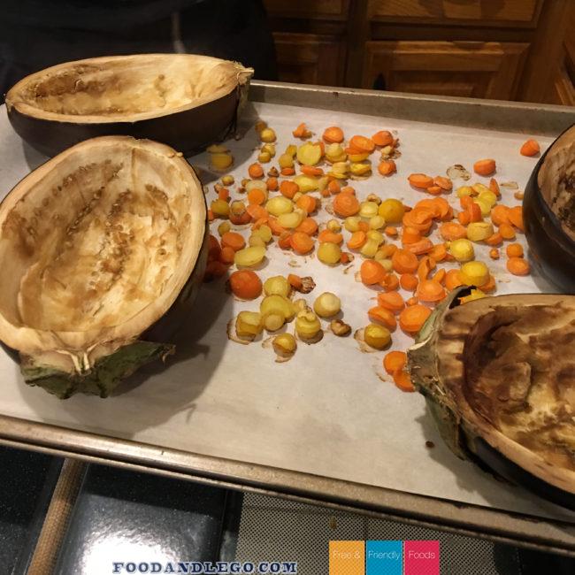 Free and Friendly Foods Stuffed Eggplant Parmesan