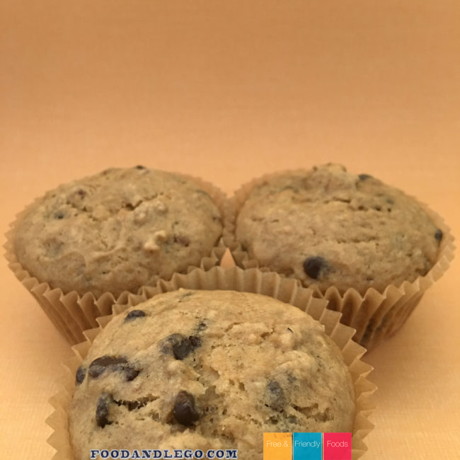 Free and Friendly Foods Banana Walnut Muffins