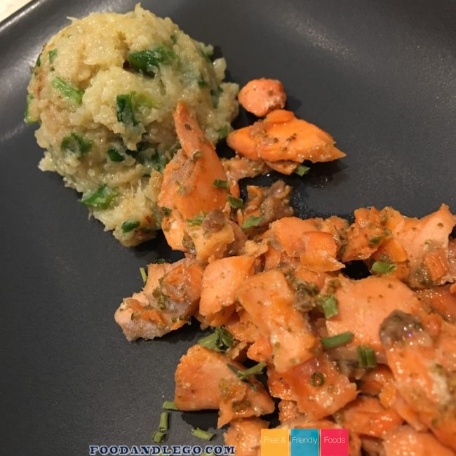 Free and Friendly Foods Salmon & Cauliflower Rice