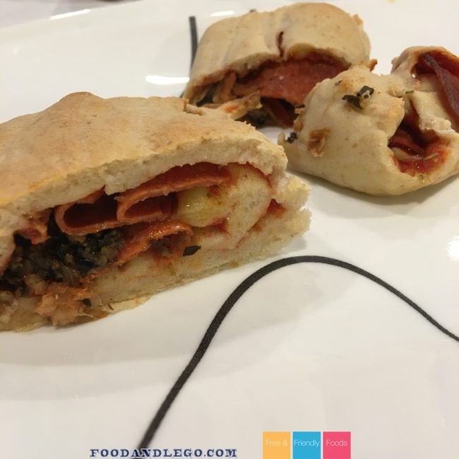 Free and Friendly Foods Rolled Pizza Dough Sandwich