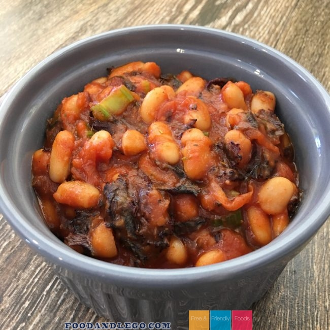 Free and Friendly Foods Kale & Bean Stew