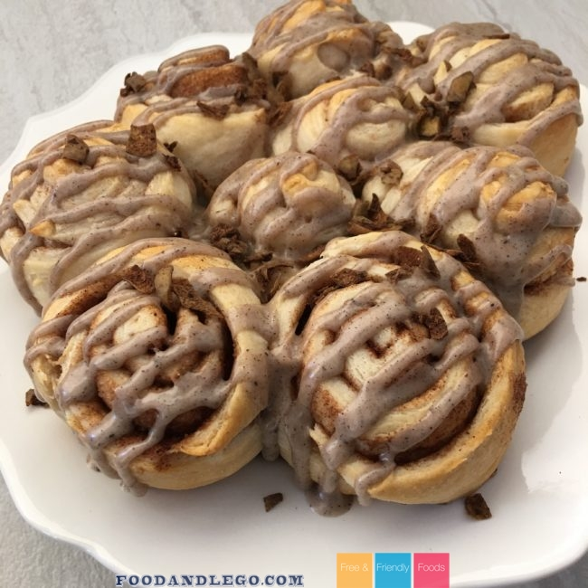 Free and Friendly Foods Organic Crescent Cinnamon & Chocolate Rolls
