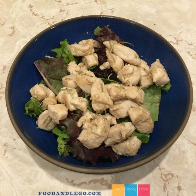 Free and Friendly Foods Rosemary Ginger Chicken Salad