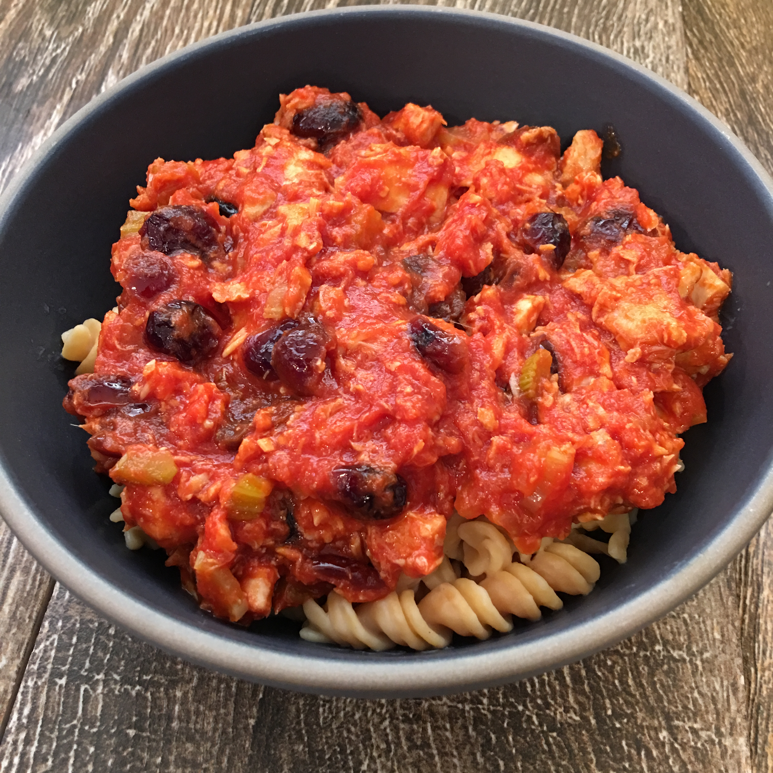 Free and Friendly Foods Cranberry Tuna Pasta
