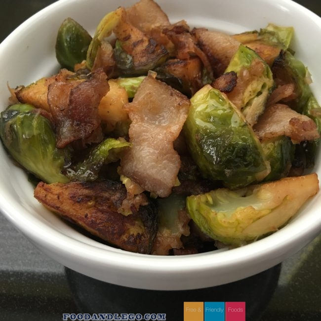 Free and Friendly Foods Paleo Brussels Sprouts & Bacon
