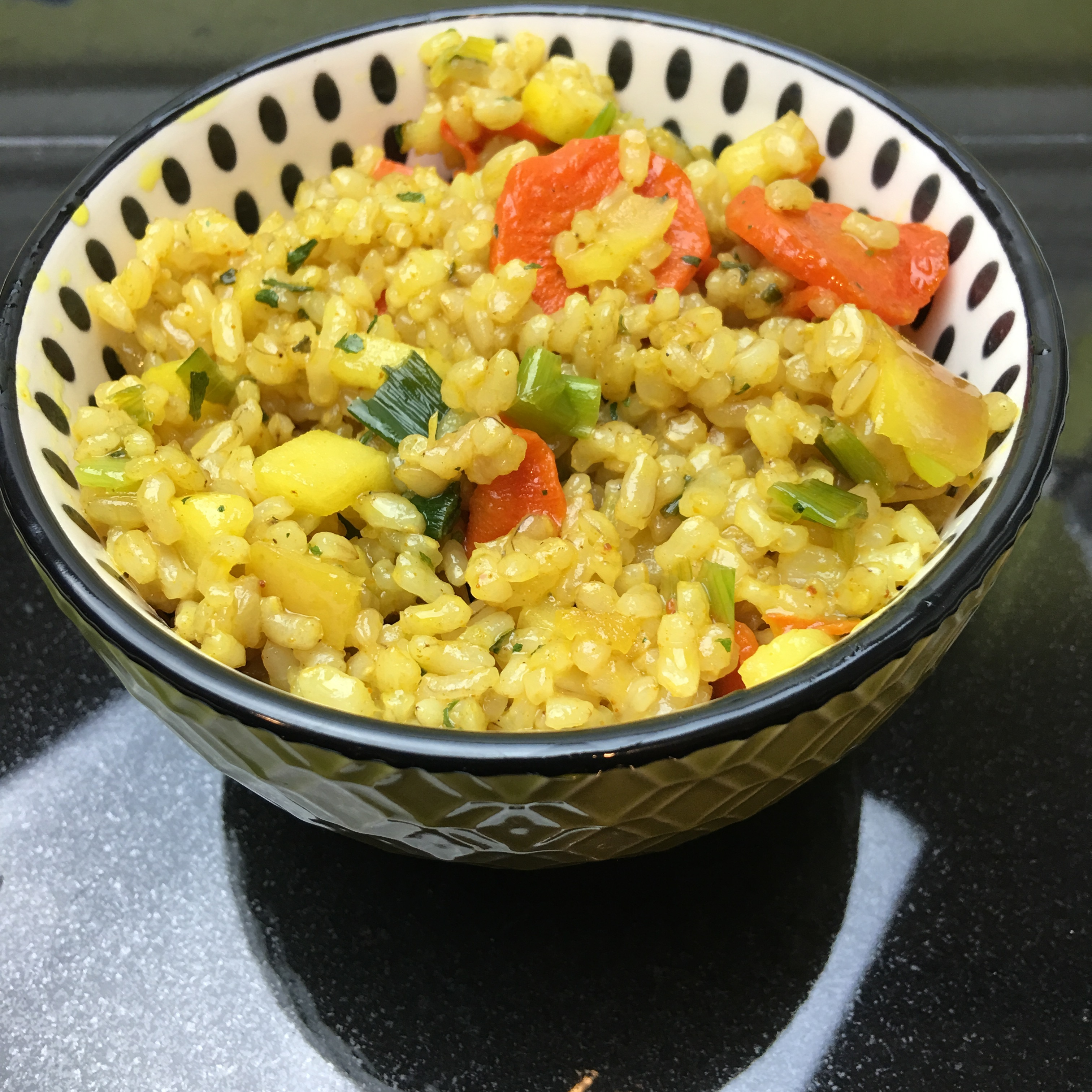 Allergy Free, Vegan Curried Fried Rice by The Allergy Chef