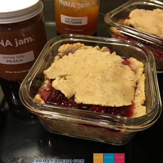 Peach and Blackberry Pie by The Allergy Chef