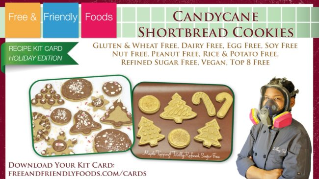 The Allergy Chef Candy Cane Shortbread Cookies