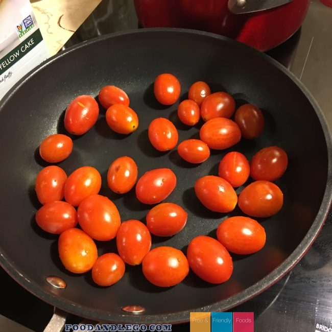 Allergy Free, Organic Blistered Tomatoes & Pasta by The Allergy Chef
