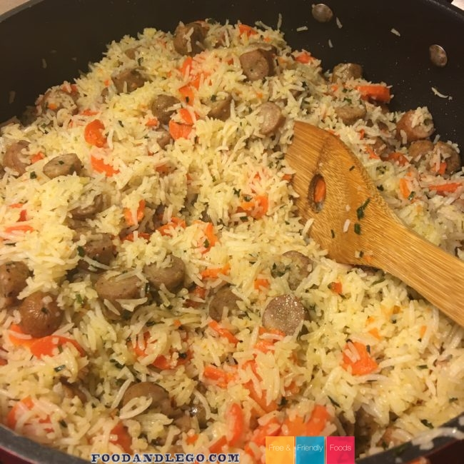 Allergy Free, Organic Chicken Sausage & Rice by The Allergy Chef
