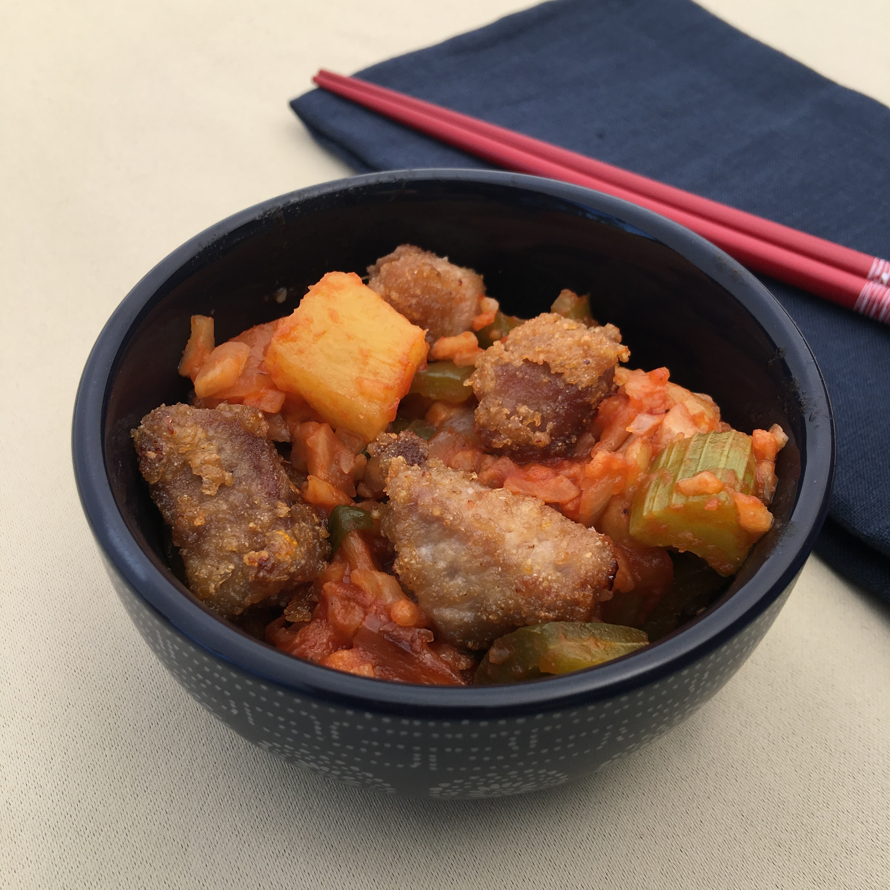 Grain Free Sweet & Sour Pork by The Allergy Chef