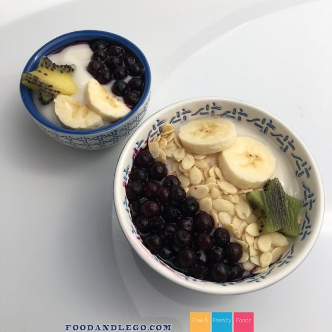 Allergy Free Blueberry Yogurt Bowl by The Allergy Chef