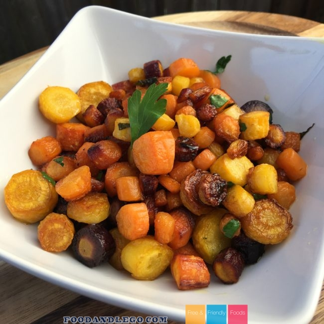 Allergy Free Balsamic Baked Carrots by The Allergy Chef