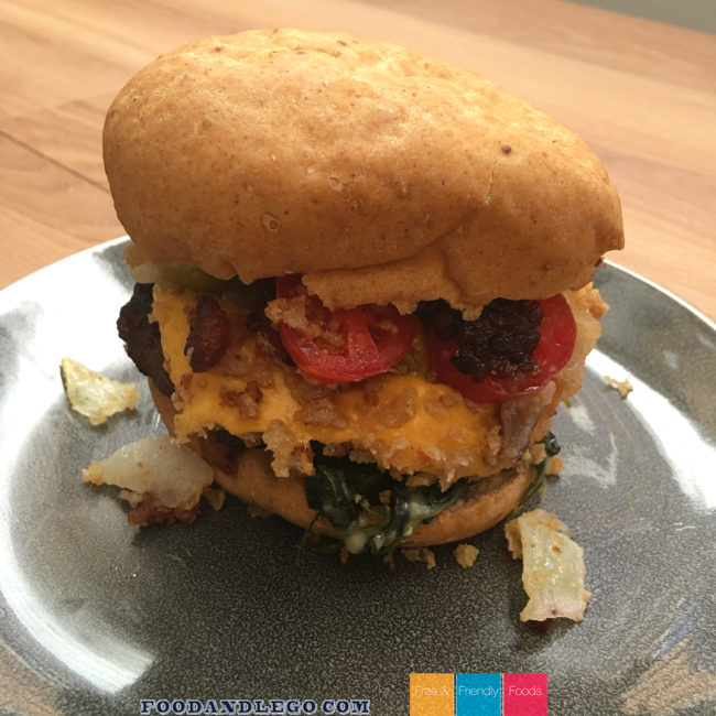 Gluten Free Ultimate Pork Burger by The Allergy Chef