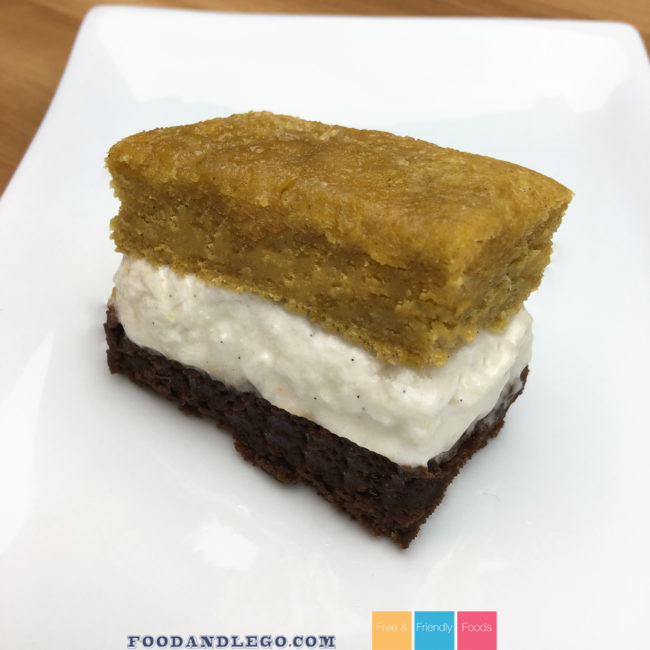 Free and Friendly Foods Gluten Free & Vegan Pumpkin Brownie Bar