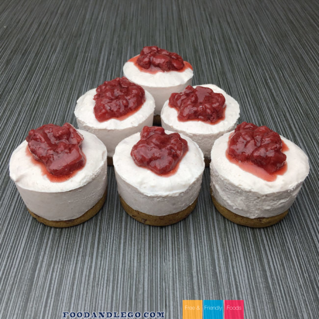 Gluten Free, Vegan, No-Bake Strawberry Cheesecake
