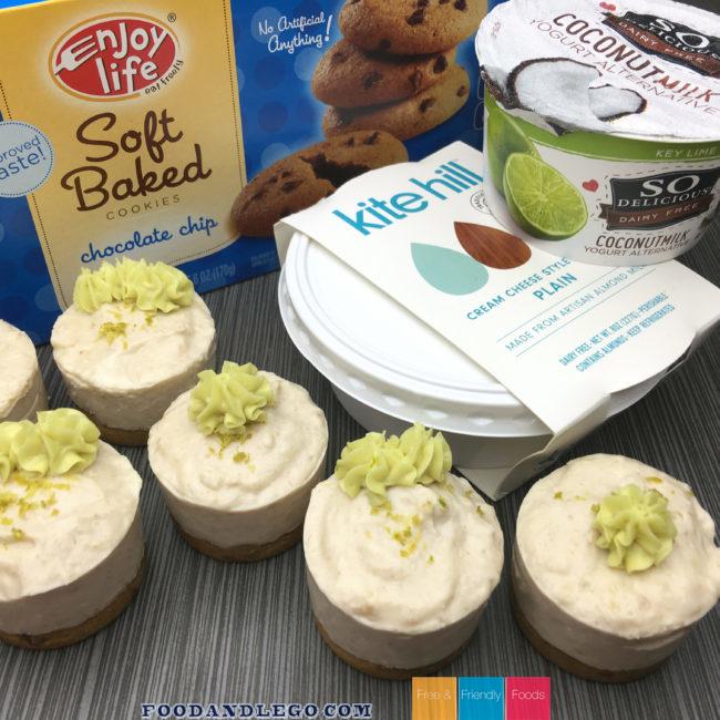 Gluten Free, Vegan, Key Lime No-Bake Cheesecake