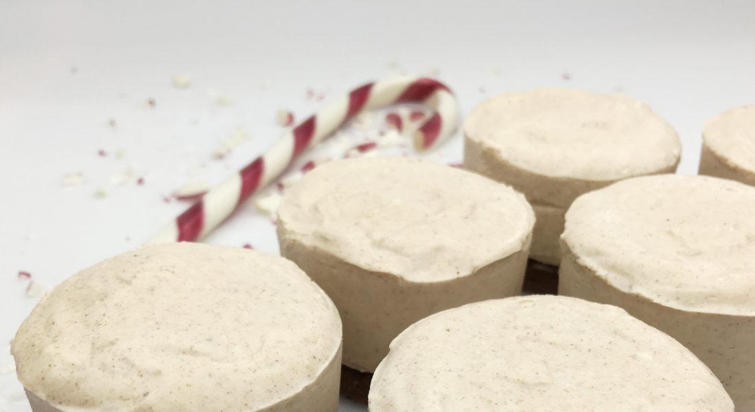 Gluten Free, Vegan, No-Bake Egg Nog Cheesecake