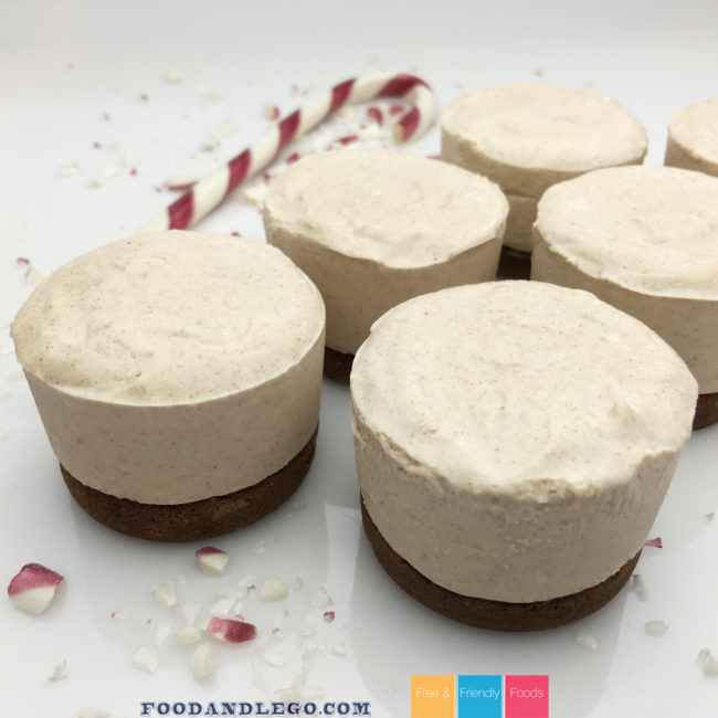 Gluten Free, Vegan, No-Bake Egg Nog Cheesecake
