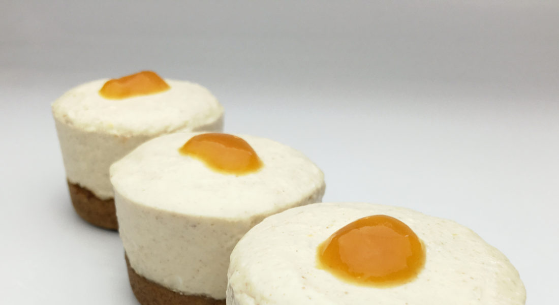 Gluten Free, Vegan, No-Bake Peach Cheesecake