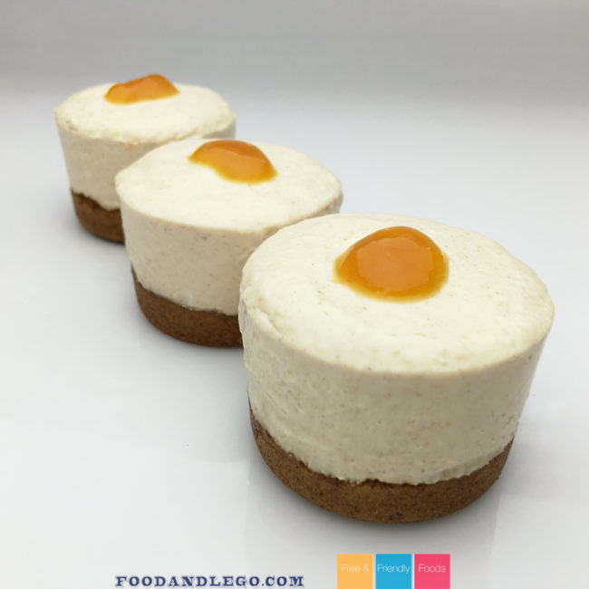 Gluten Free, Vegan, No-Bake Peach Cheesecake