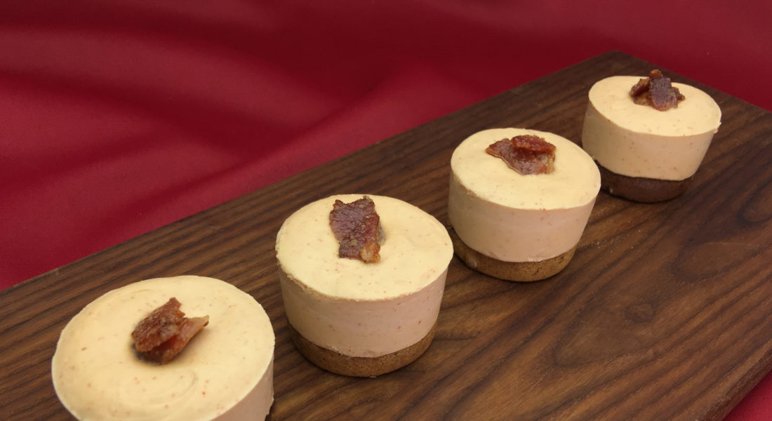 Gluten Free, Vegan, No-Bake Maple Bacon Cheesecake