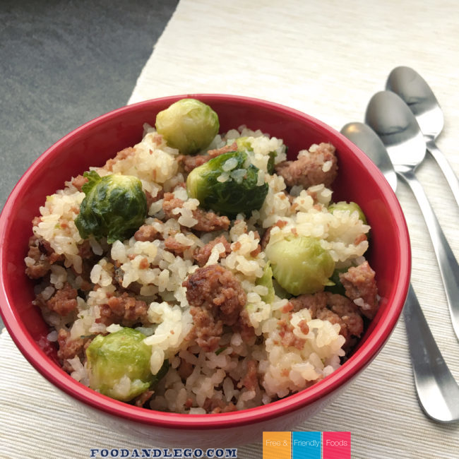Meat Lover's Brussels & Rice by The Allergy Chef