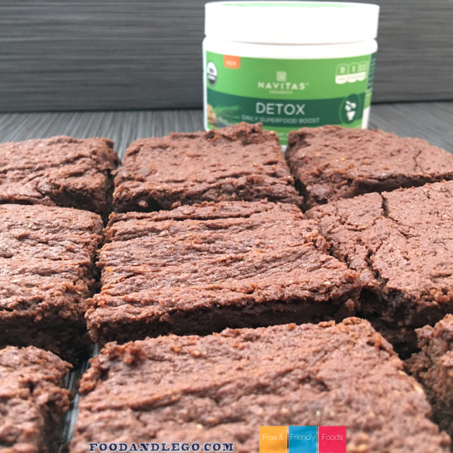 Navitas Deetox Brownies Gluten Free & Vegan By The Allergy Chef