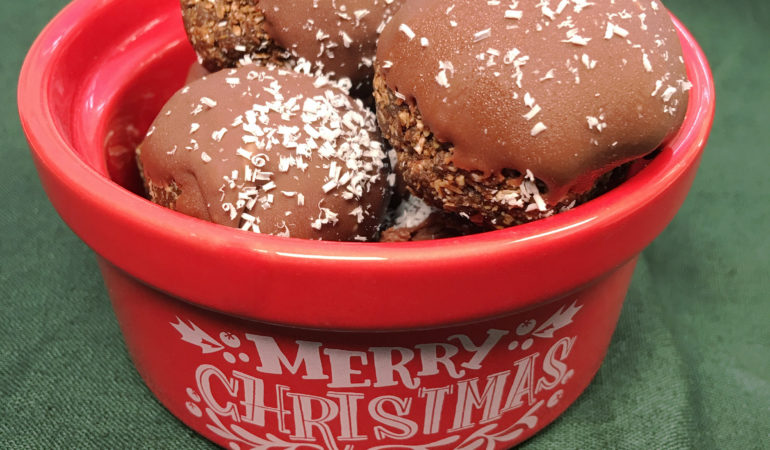 Chocolate Peppermint Power Balls by The Allergy Chef