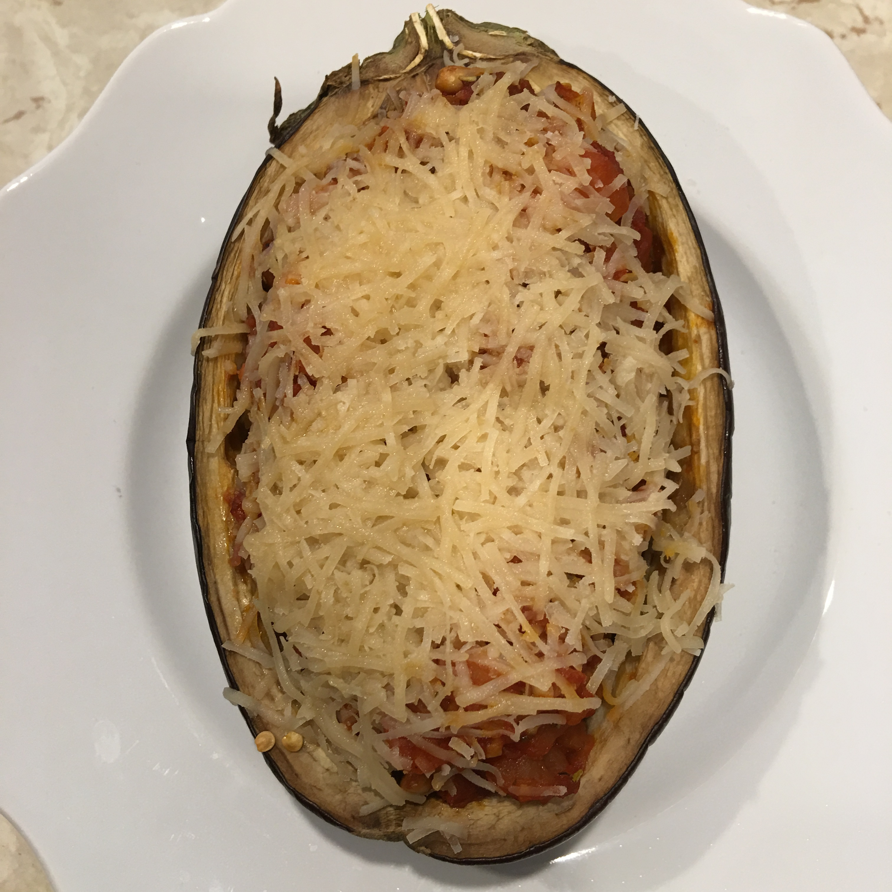 Free and Friendly Foods Stuffed Eggplant Parmesan