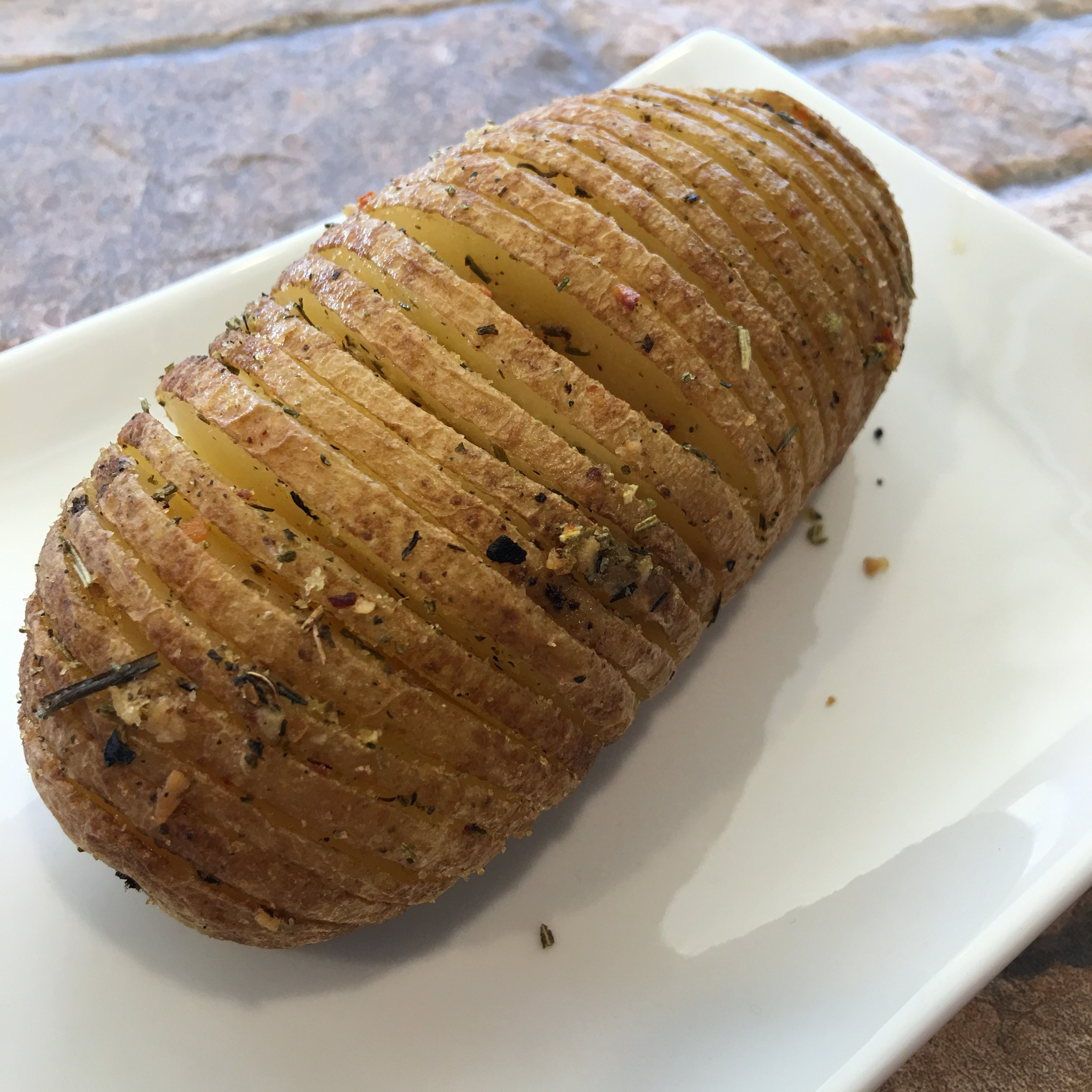 Free and Friendly Foods Hasselback Potatoes