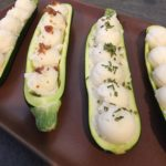 Organic Mashed Potato Zucchini Boats