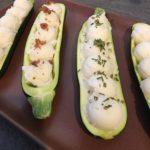 Organic Mashed Potato Zucchini Boats