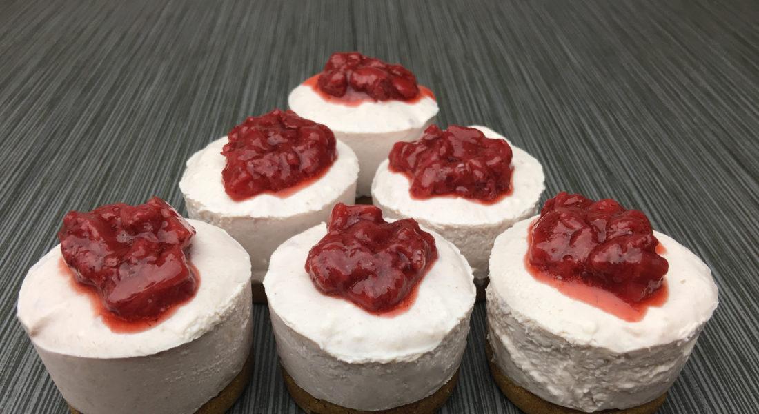 Gluten Free, Vegan, Strawberry No-Bake Cheesecake
